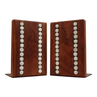 Martz Marshall Studios Walnut Bookends, a Pair For Sale