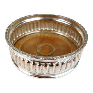 Vintage Silverplate Wine Coaster For Sale