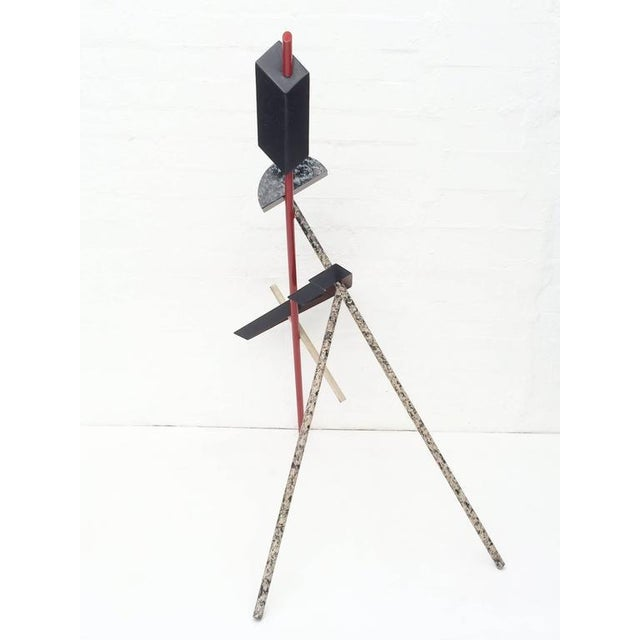 Mid-Century Modern Memphis Acrylic Painted Steel Sculpture For Sale - Image 3 of 10