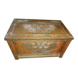 Antique Brass Firewood Box