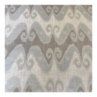 "Schumacher ""Tali"" Weave Ikat Linen Fabric- 2 Yards For Sale"