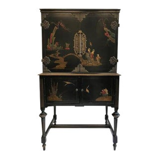1920s Art Deco American Asian Style Cabinet