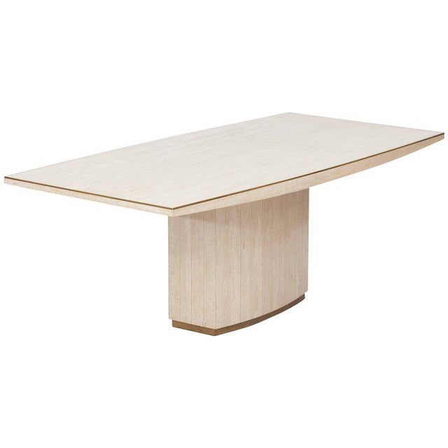 White Willy Rizzo Travertine Dining Table For Sale - Image 8 of 8