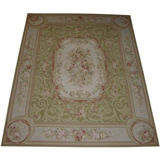 21st Century Wool Needlepoint Rug - 8′ × 10′2″ For Sale