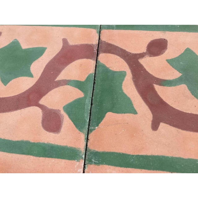 Moroccan Encaustic Cement Tile Sample For Sale - Image 4 of 9