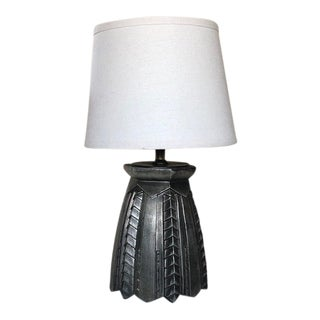 Vintage Architectural Mid-Century Cast Metal Table Lamp For Sale