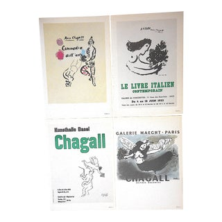 Vintage Mid 20th C.Marc Chagall Lithographs-Folio Size-Set of 4 For Sale