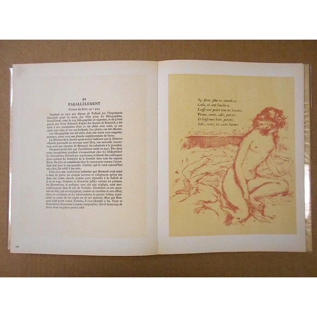 """Vintage Mid Century Illustrated Book-""""Bonnard Lithographie""""-First Edition-Profusely Illustrated For Sale - Image 9 of 12"""