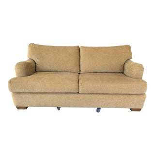 Custom Beige Loveseat Sofa
