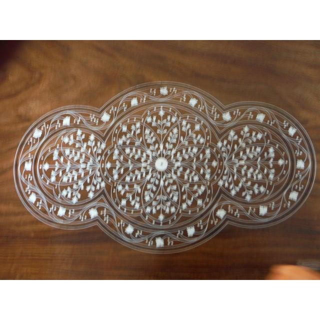 Pakistani Inlayed Rosewood Coffee Table - Image 5 of 9