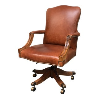 Custom Cognac Leather Executive Chair
