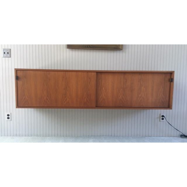Florence Knoll Florence Knoll Wall Mounted Credenza Cabinet For Sale - Image 4 of 6