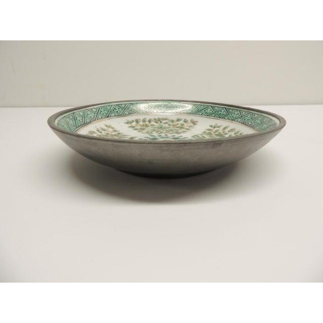 Vintage Japanese Green Decorative Ceramic Plate - Image 3 of 5