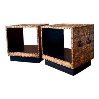 1960s Copper Clad End Tables - a Pair For Sale
