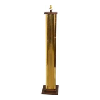 Mid-Century Modern Brutalist CityScape Brass Floor Lamp For Sale