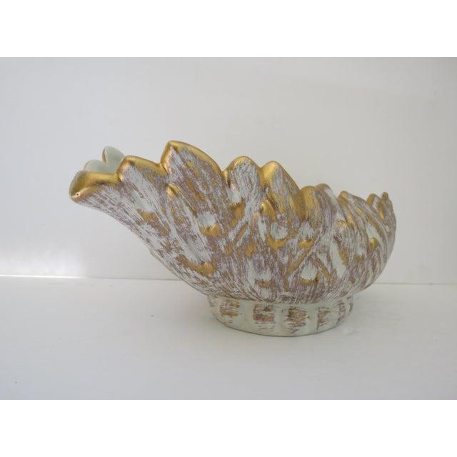 Haeger Vintage Haeger 22k Gold Ceramic Planter For Sale - Image 4 of 6