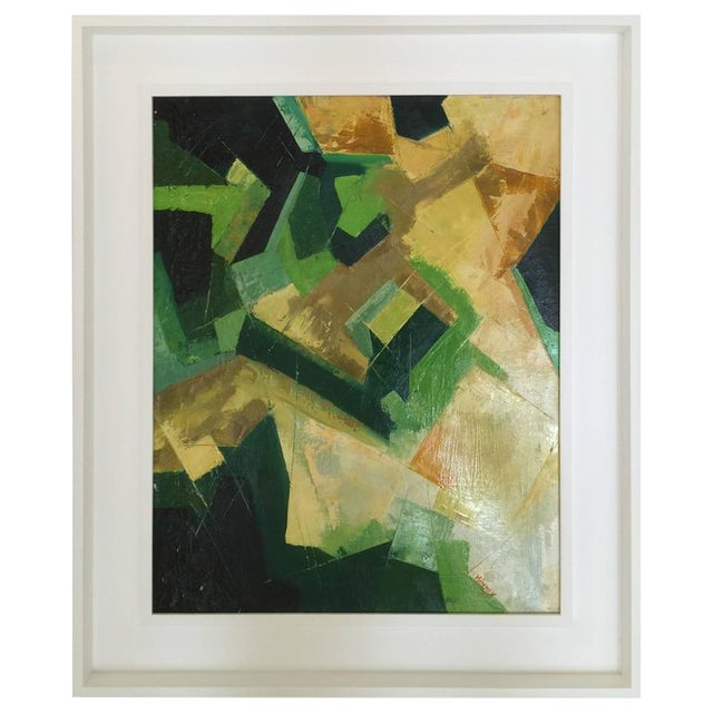 Original Kinney Oil on Board in Multi-Color Abstract - Image 1 of 5