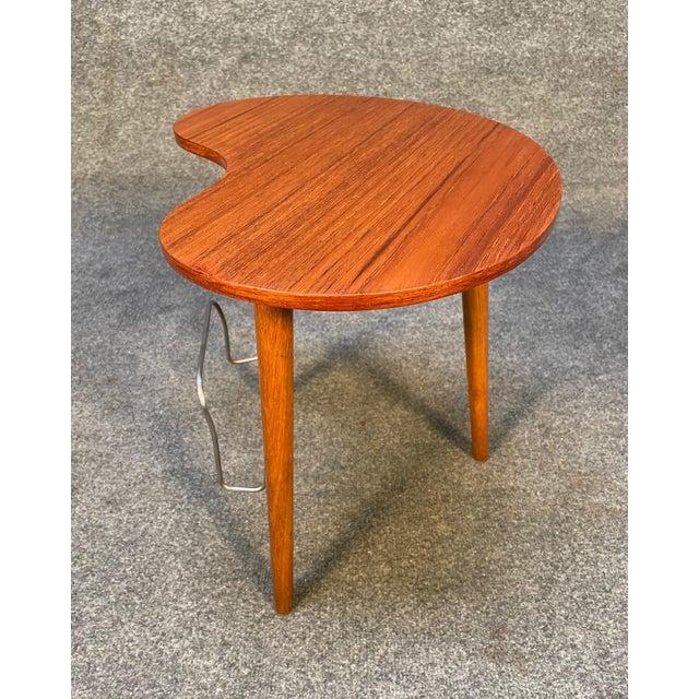 """Wood Vintage Danish Mid Century Modern """"Gorm"""" Side Table by Edmund Jørgensen For Sale - Image 7 of 9"""