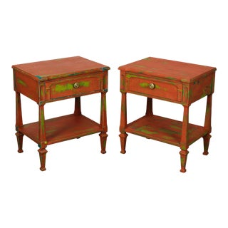 Vintage Mid Century Rainbow Nightstands - a Pair, Shabby Chic Nightstands For Sale