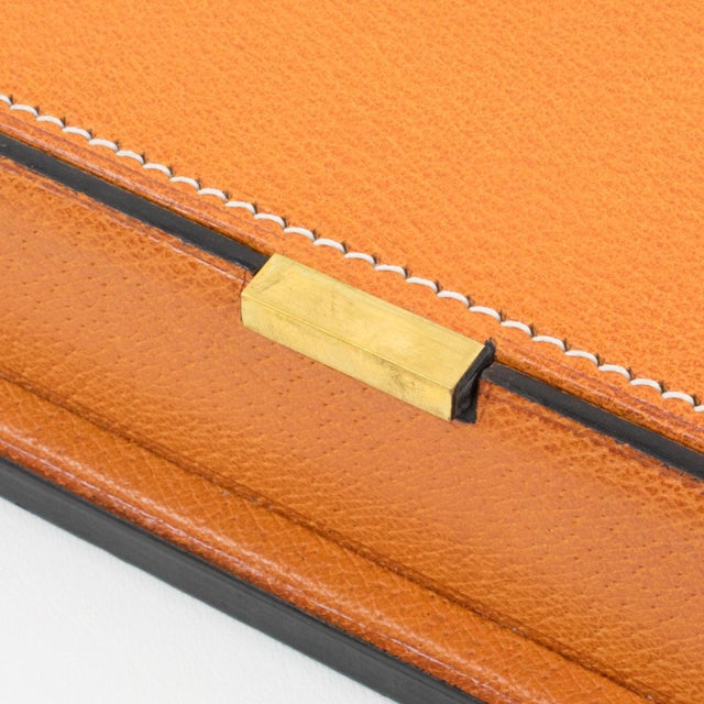 Longchamp Hand-Stitched Leather Box For Sale - Image 11 of 13