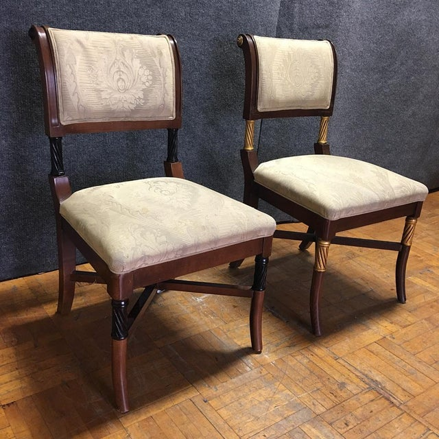 Wooden Ornate Dining Chairs - Set of 6 - Image 5 of 11