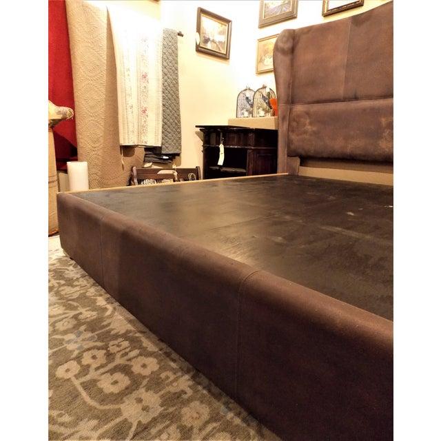 2010s Dax King Size Leather Platform Bedframe by Taracea For Sale - Image 5 of 6
