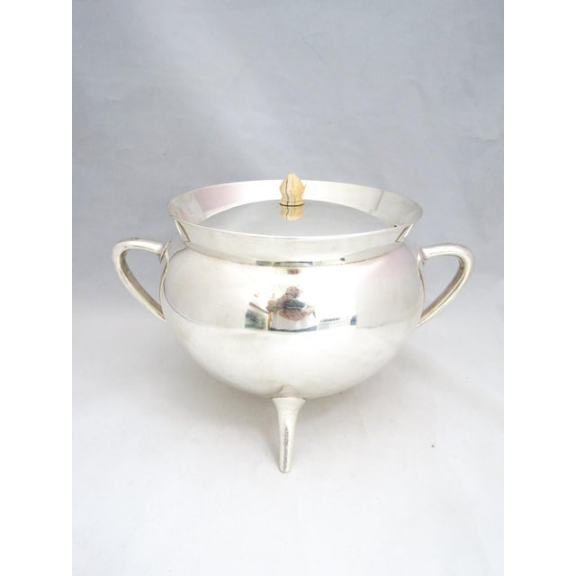 Mid-Century Modern Mid Century Walker & Hall Silver Soup Tureen For Sale - Image 3 of 8