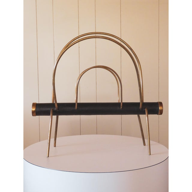 Mid-Century Modern 1950s Vienna Magazine Rack in the Style of Carl Aubock For Sale - Image 3 of 9