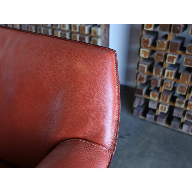 Mario Bellini for Cassina Large Cab Lounge Chairs - a Pair For Sale - Image 10 of 13