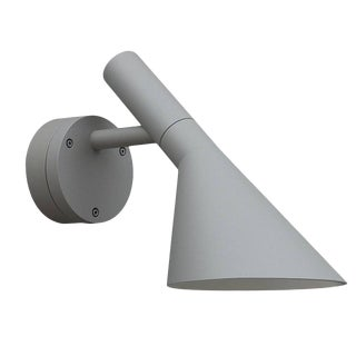 Arne Jacobsen Aj 50 Outdoor Wall Light for Louis Poulsen in Grey For Sale