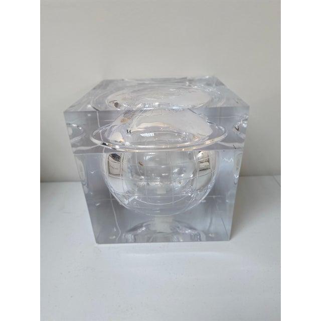 Aero Studios Ice Bucket With Globe Detail For Sale - Image 4 of 6