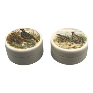 1950s English Traditional Game Bird Boxes - a Pair For Sale