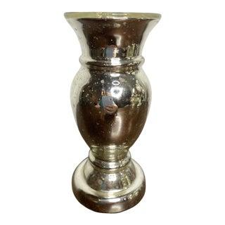 Antique Mercury Glass Vase For Sale