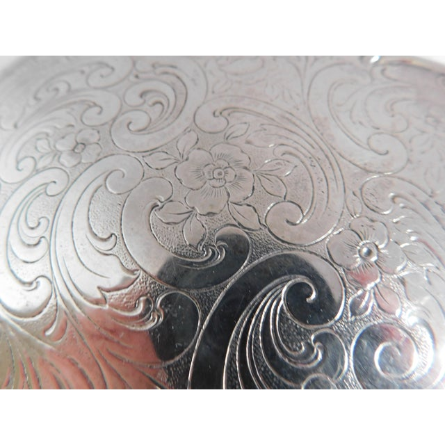 Fabulous Vintage Chased 835 Silver Hand Mirror For Sale - Image 9 of 11