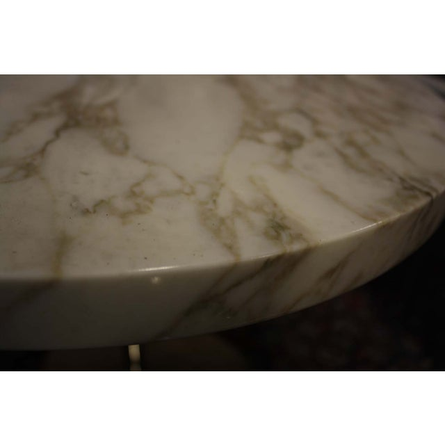 Zographos White Marble & Chromed Steel Side Table - Image 4 of 5
