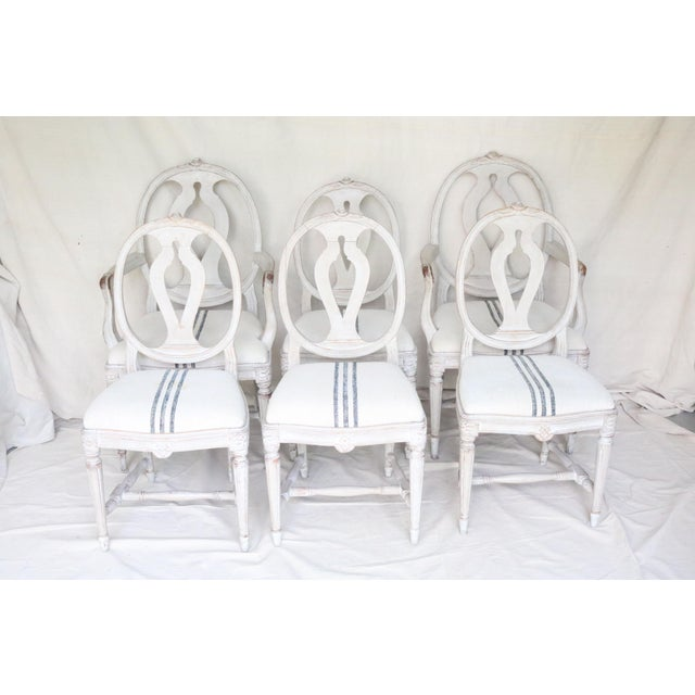 Mid 19th Century Swedish Gustavian Dining Chairs, Set of 6 For Sale - Image 13 of 13