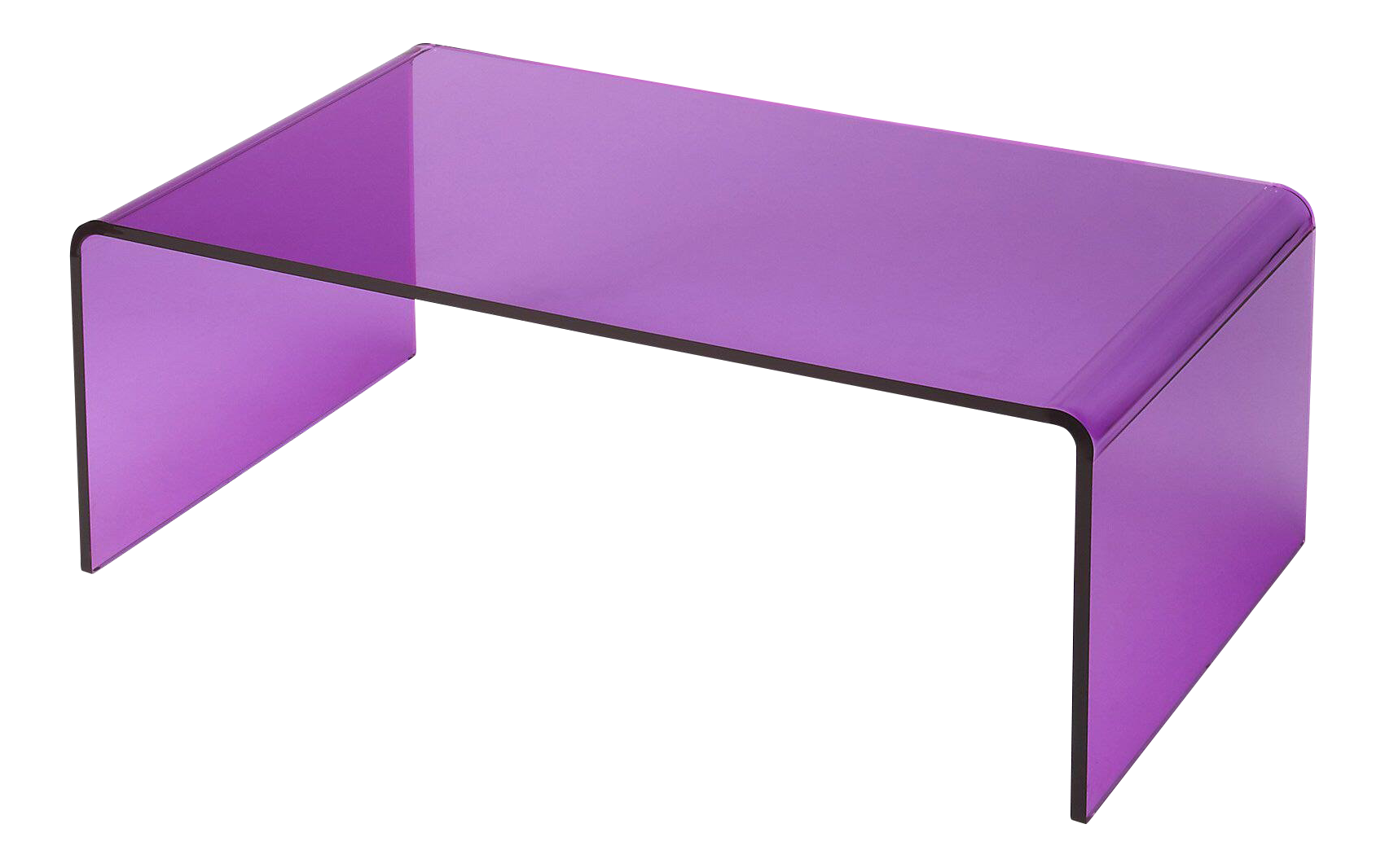 Delicieux Purple Acrylic Waterfall Table For Sale