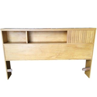 Heywood Wakefield Style Queen-Size Bookcase Headboard For Sale