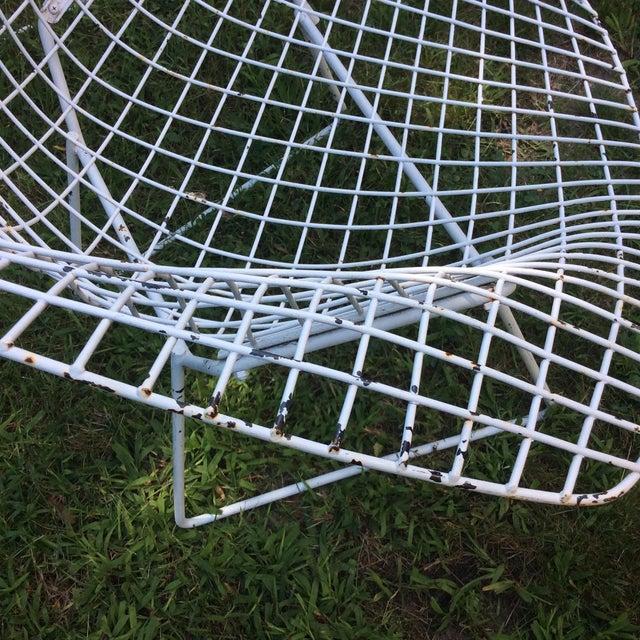 Harry Bertoia Diamond White Chairs - Set of 4 - Image 6 of 8