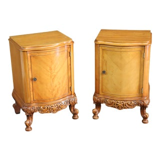 Louis XV Style Mahogany Nightstands For Sale