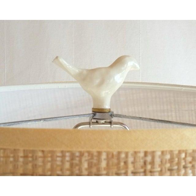 Boho Chic Ceramic Bird Finial For Sale - Image 3 of 5