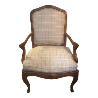 Antique High Back French Calver Chair For Sale