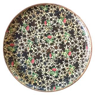 Mid-Century Floral Papier-Mâché Serving Tray For Sale