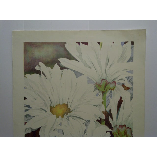 """Late 20th Century Limited Edition """"Daisy Mums"""" Signed Numbered (72/100) Print by Bukonik For Sale - Image 5 of 10"""