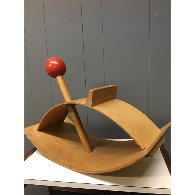 Plywood Gloria Caranica for Creative Playthings Mid-Century Modernist Rocking Horse For Sale - Image 7 of 11