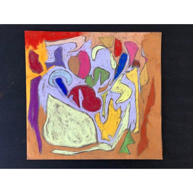 Erik Sulander Abstraction No. 104 Original Pastel by Erik Sulander 11x12 For Sale - Image 4 of 4