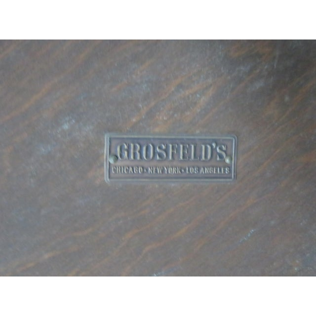 Early 20th Century Grosfeld Marble Top Satinwood Inlaid Center Table For Sale - Image 5 of 9