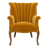 Image of Vintage Mustard Yellow Side Chair For Sale