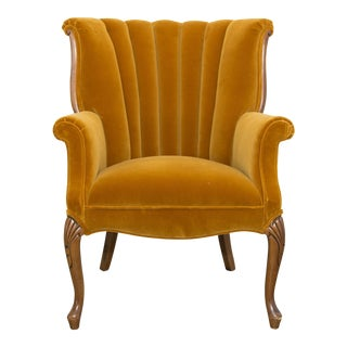 Vintage Mustard Yellow Side Chair For Sale