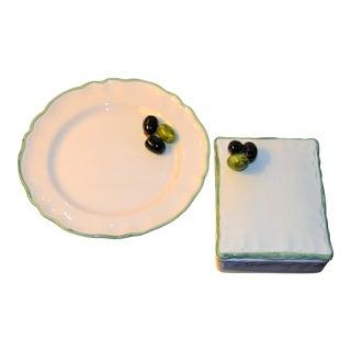 Vintage Mancioli Trompe l'Oeil Box and Plate